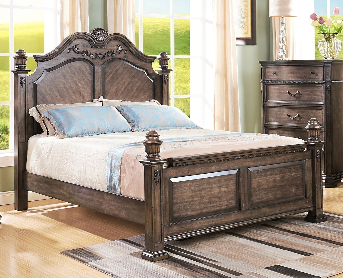 Larissa Low Post Bed (Queen) By New Classic Furniture