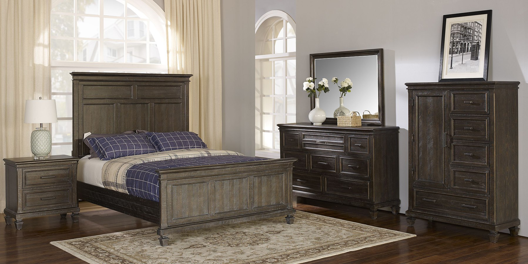Cadiz Panel Bedroom Set New Classic Furniture Furniture Cart