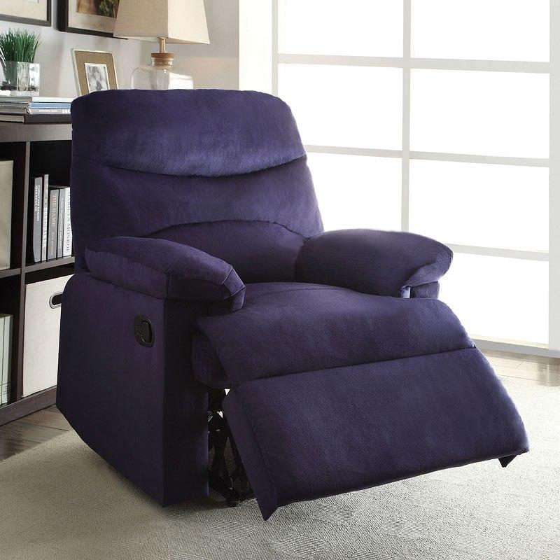 Ashley Furniture Arcadia: Arcadia Recliner (Blue Woven) Acme Furniture