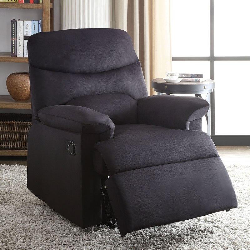 Ashley Furniture Arcadia: Arcadia Recliner (Black Woven) Acme Furniture
