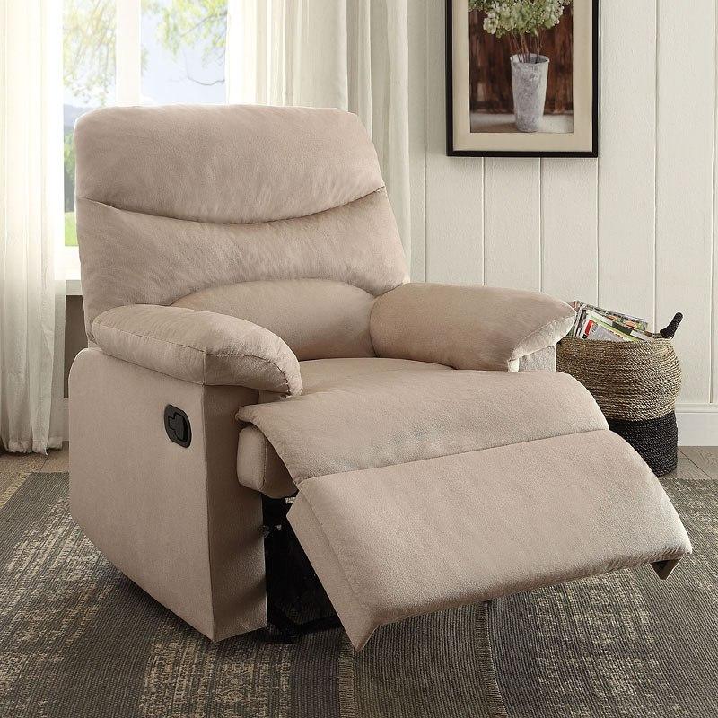 Ashley Furniture Arcadia: Arcadia Recliner (Beige Woven) Acme Furniture
