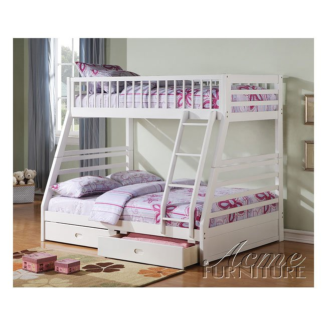 Jason White Bunk Bed with Storage