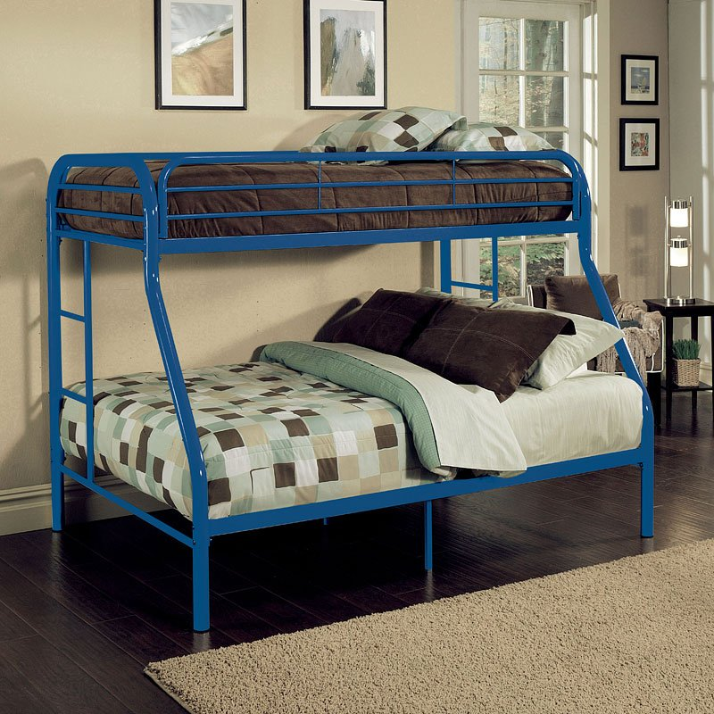 Tritan Twin Over Full Bunk Bed Blue Acme Furniture