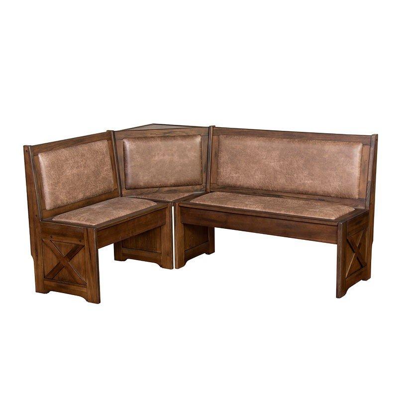 Savannah Corner Bench W Cushion Seat And Back