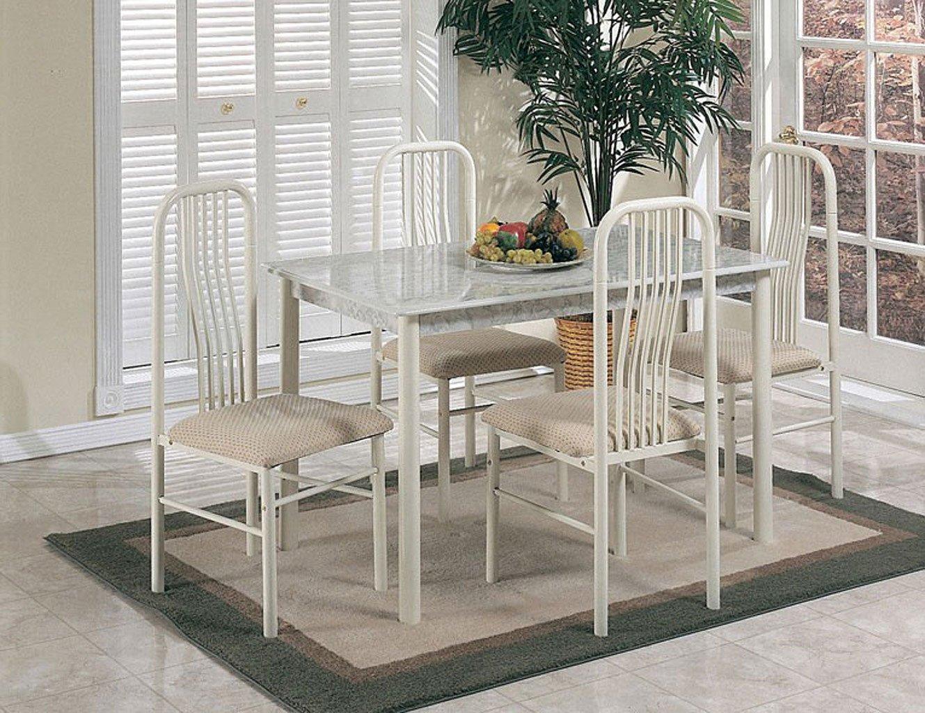 Hudson 5 Piece Dining Room Set (Ivory)