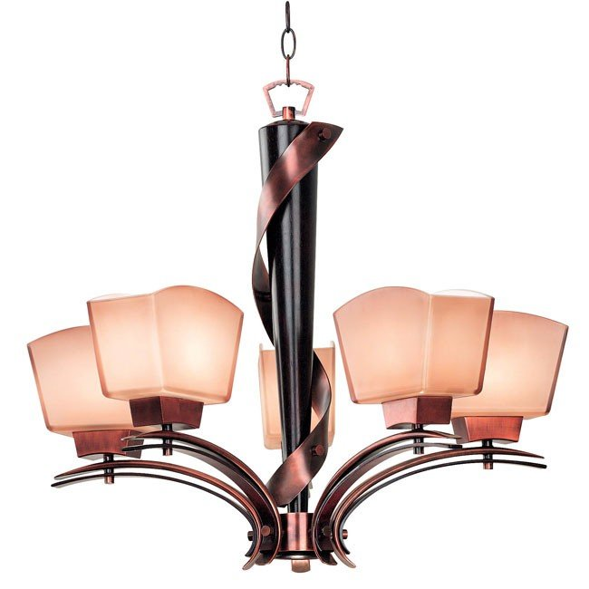 Oslo 5 Light Chandelier (Burnished Copper)
