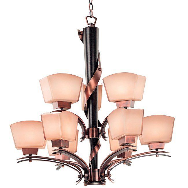 Oslo 9 Light Chandelier (Burnished Copper)
