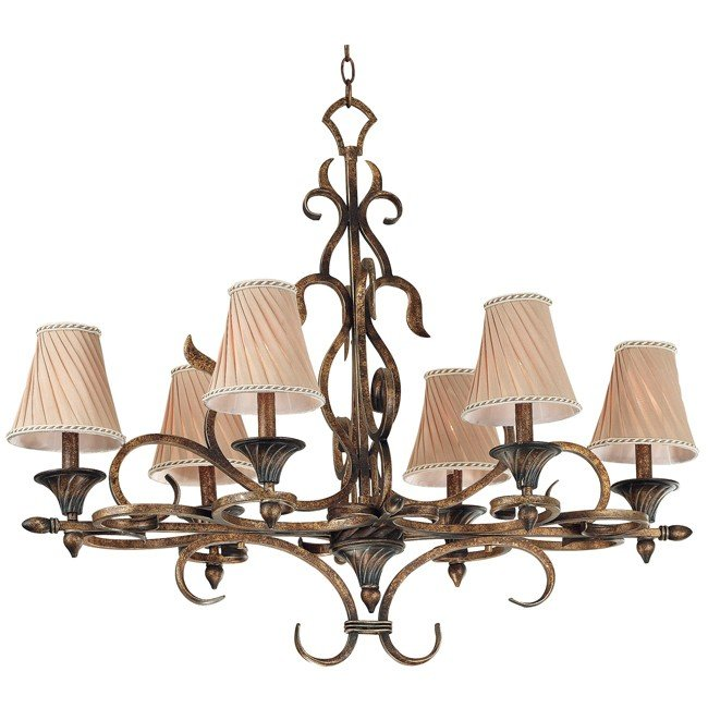 Verona 6 Light Chandelier (Aged Golden Copper)