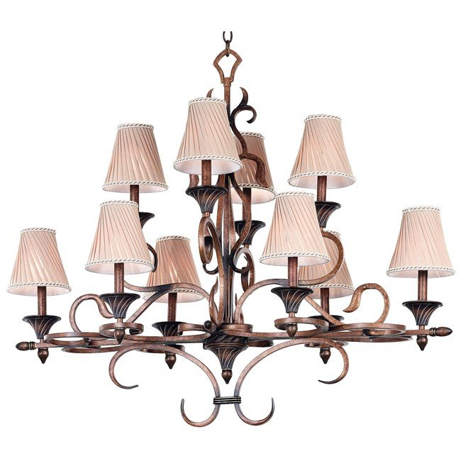 Verona 10 Light Chandelier (Aged Golden Copper)