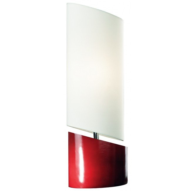 Slant Table Lamp (Red)