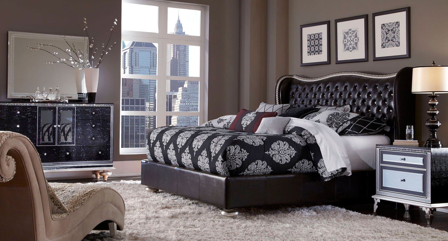 hollywood swank starry night bedroom set aico furniture furniture cart rh furniturecart com hollywood swank bedroom set black hollywood swank bedroom furniture