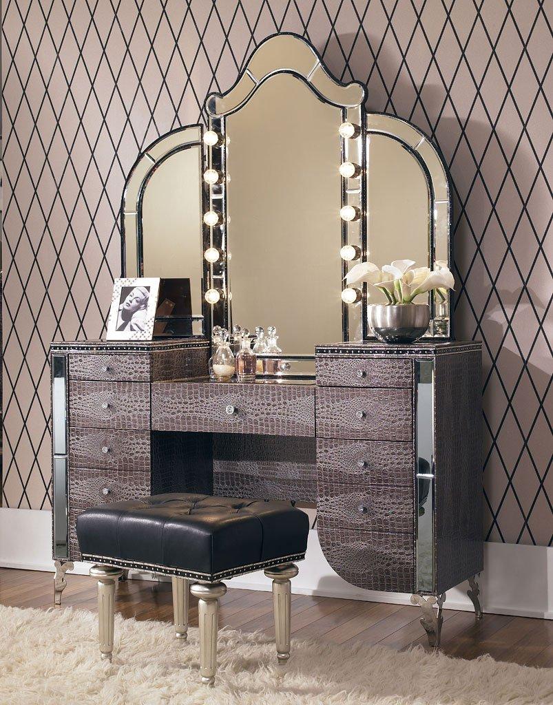 inspiring hollywood bedroom furniture set   Hollywood Swank Bedroom Set W/ Creamy Pearl Bed Aico ...