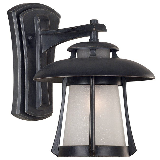 Laguna Medium Wall Lantern (Ebony Pearl)