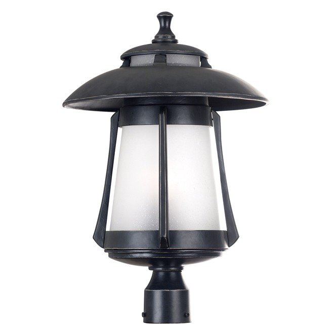 Laguna Large Post Lantern (Ebony Pearl)