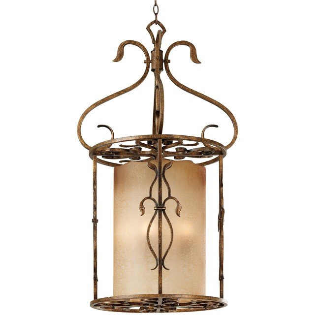 Verona 3 Light Foyer (Aged Golden Copper)