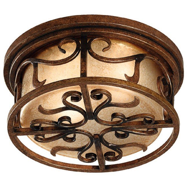 Verona 2 Light Flush Mount (Aged Golden Copper)