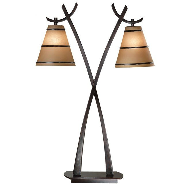 Wright 2 Light Table Lamp (Oil Rubbed Bronze)