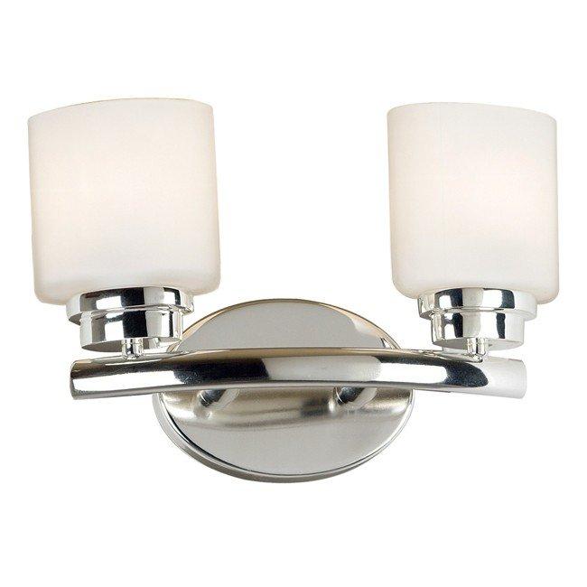 Bow 2 Light Vanity (Polished Nickel)