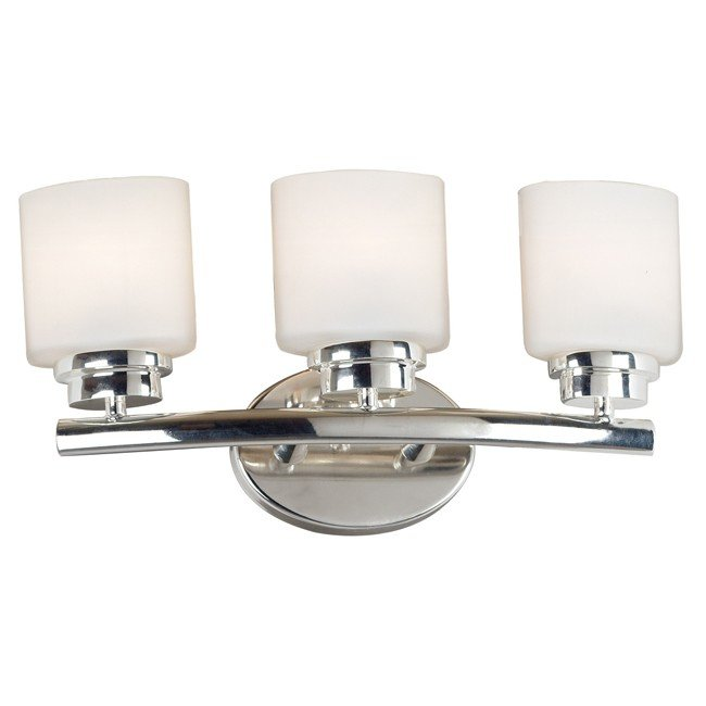 Bow 3 Light Vanity (Polished Nickel)