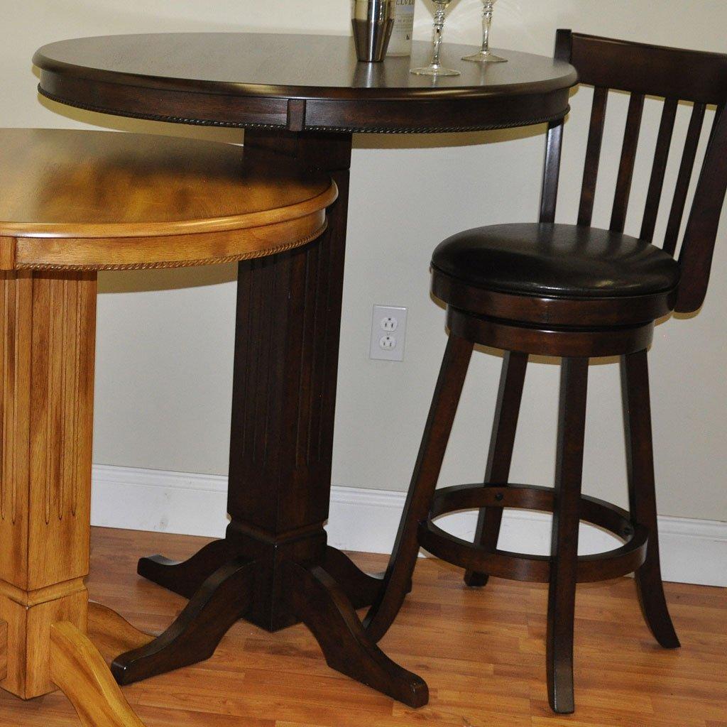 Distressed Walnut Adjustable Pub Table Eci Furniture