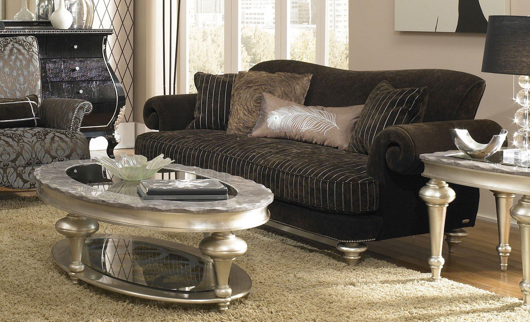 Hollywood Swank Sofa (Chocolate)