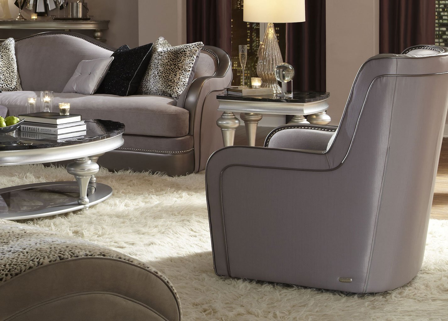 hollywood swank living room set taupe 038 taupe 05 lr set aico furniture