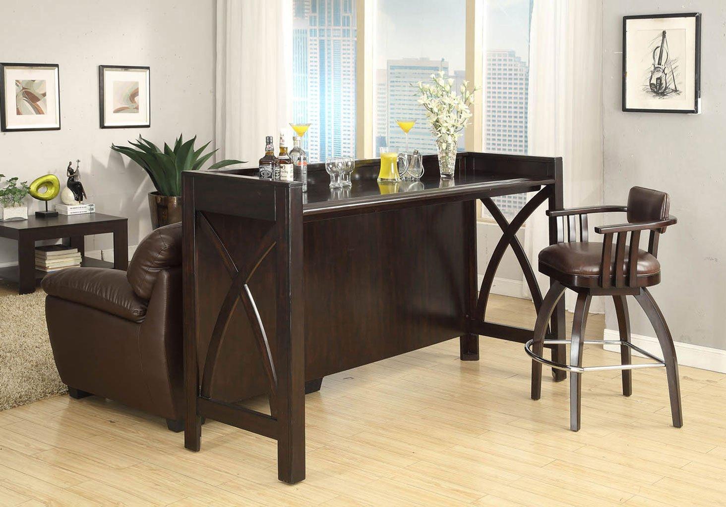 Espresso Home Theatre Bar Set Eci Furniture Furniture Cart