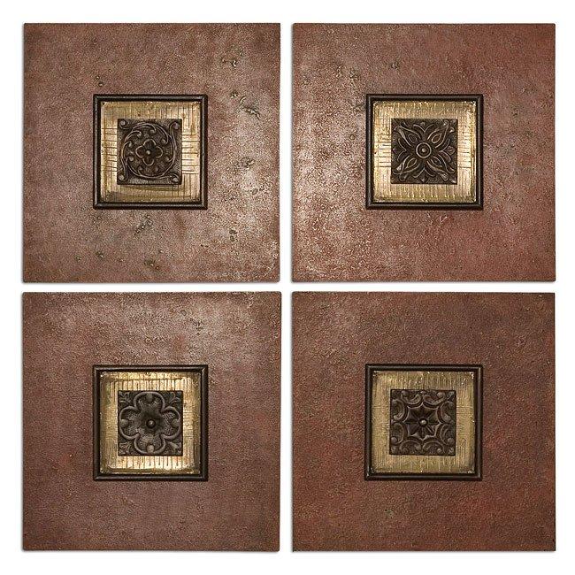 Golovin Squares Metal Wall Art (Set of 4)