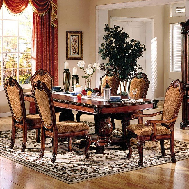 Chateau De Ville Dining Room Set w/ Fabric Chairs