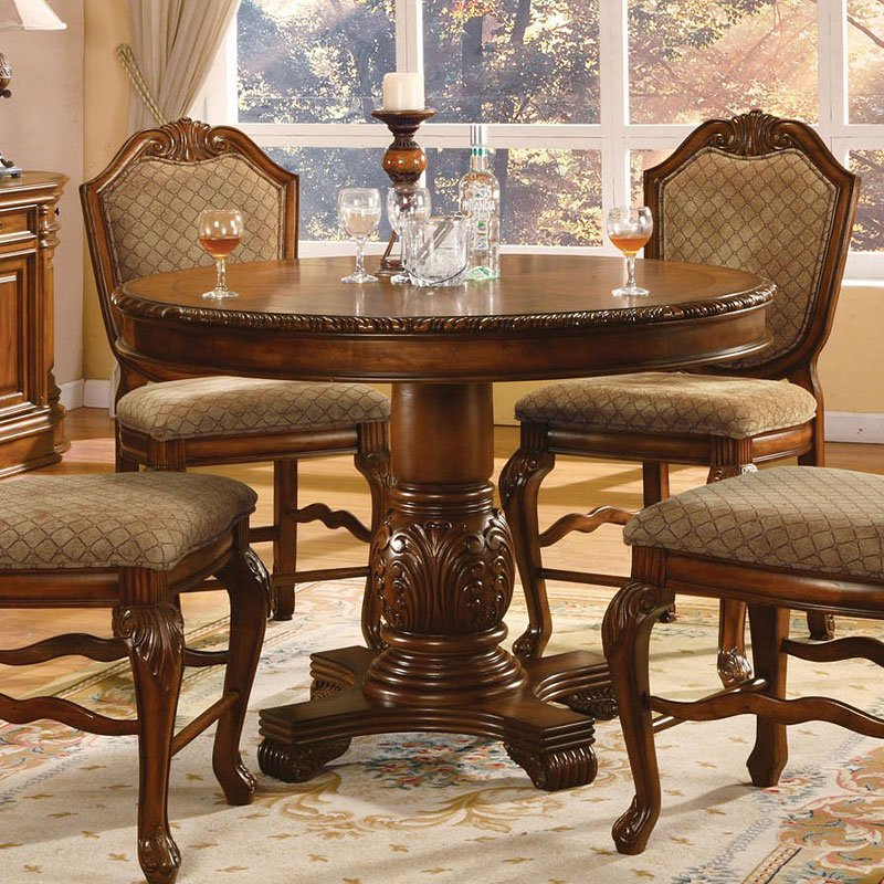 Chateau De Ville Counter Height Dining Set Cherry Acme