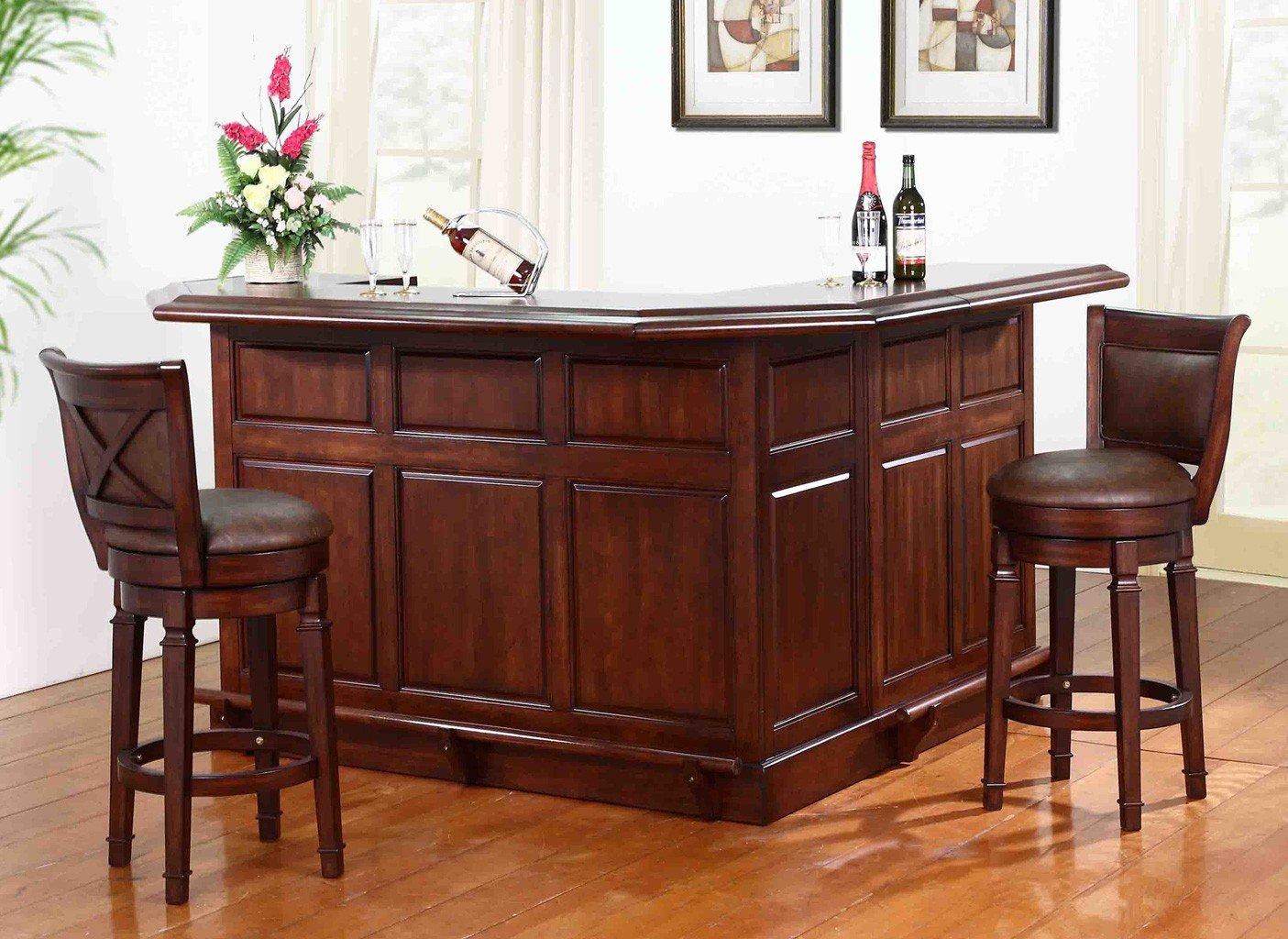 Belvedere Return Home Bar Set (Distressed Walnut)