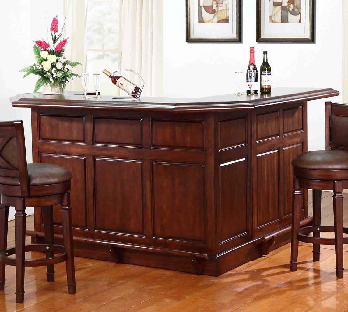 Bar Furniture Home: Belvedere Return Home Bar (Distressed Walnut) ECI