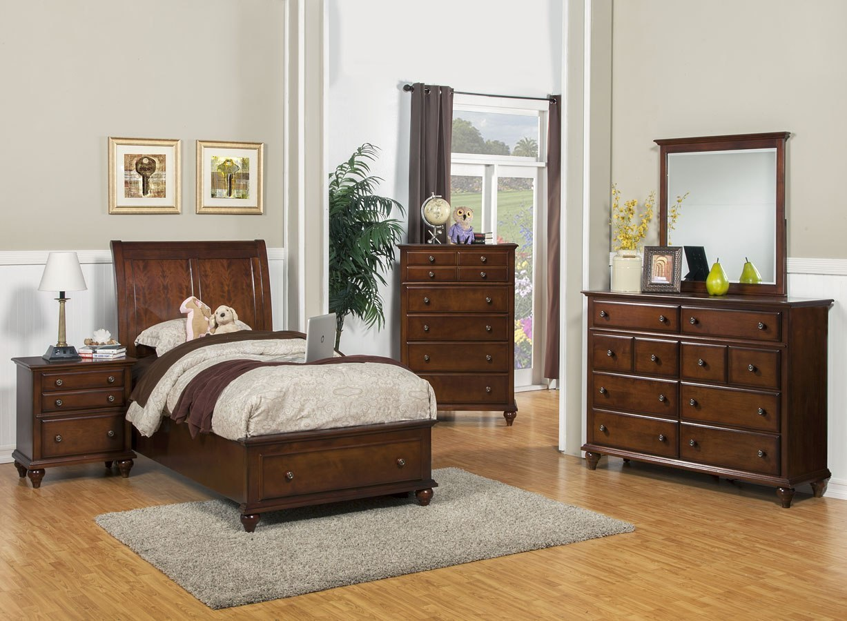 Spring creek youth storage bedroom set new classic - Youth bedroom furniture with storage ...