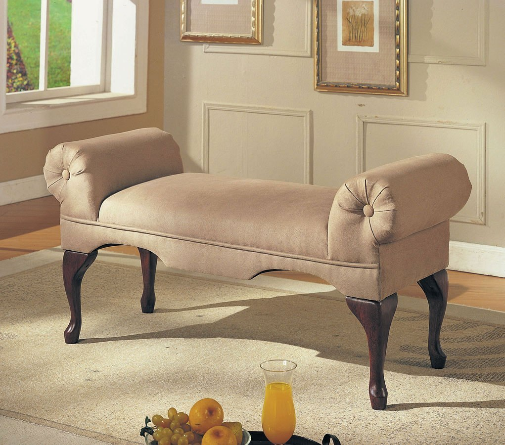 Aston Rolled Arm Backless Bench (Beige)