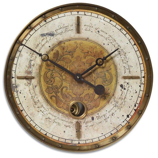 Leonardo Script Cream Clock