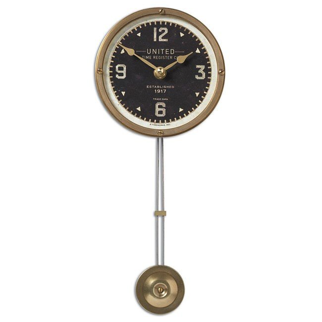 "United Time Black 5"" Clock"