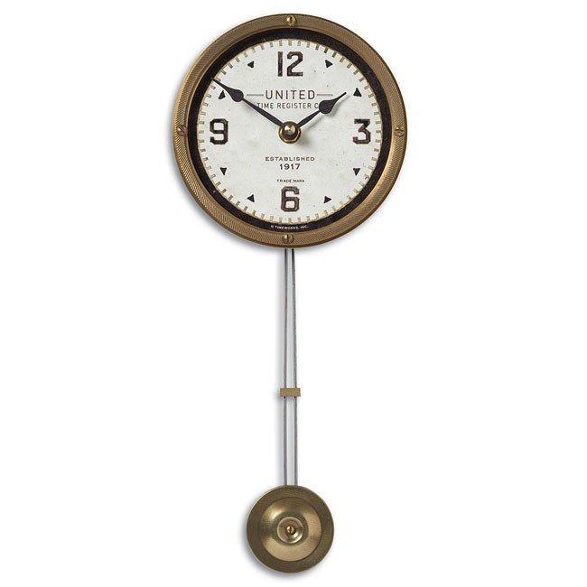 """United Time Cream 5"""" Clock"""