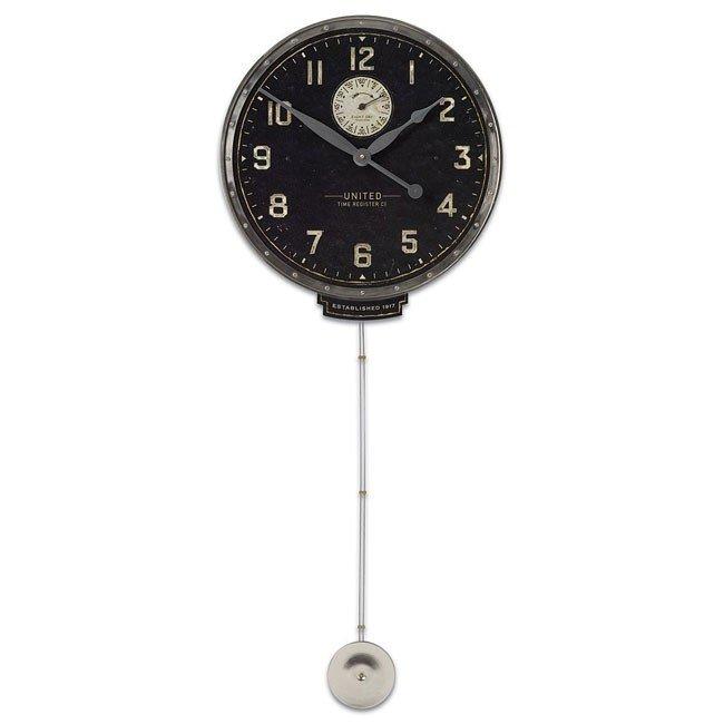"United Time Black 18"" Clock"