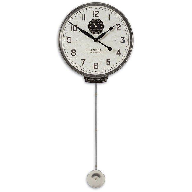 """United Time Cream 18"""" Clock"""