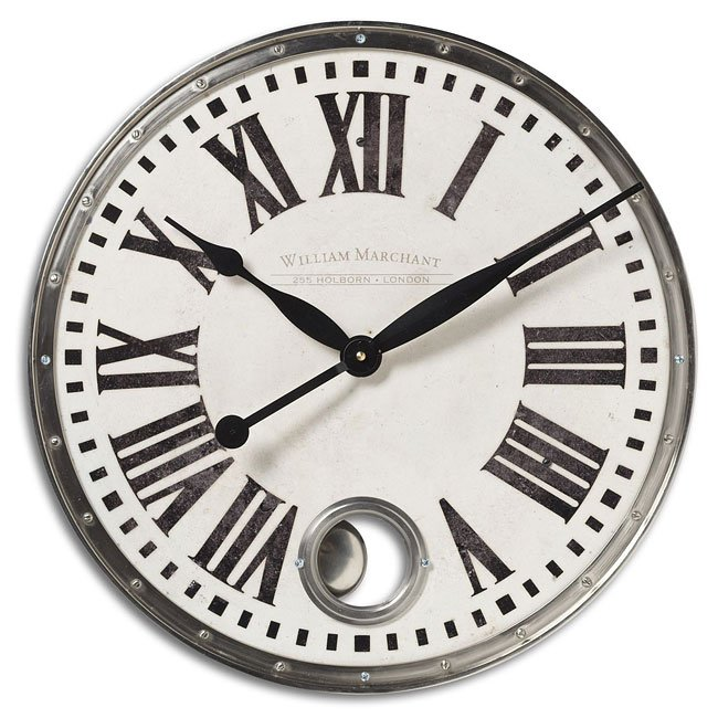 William Marchant Cream Nickel Clock