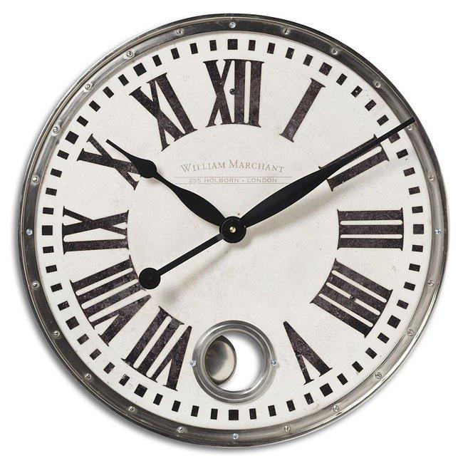 William Marchant Cream Nickel Clock