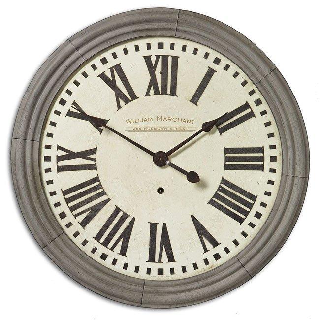 """William Marchant Cream 38"""" Clock"""