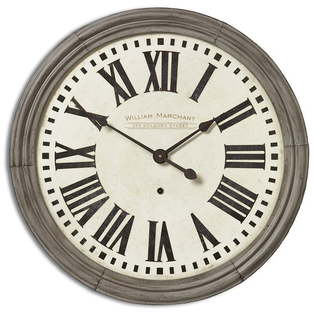 "William Marchant Cream 27"" Clock"
