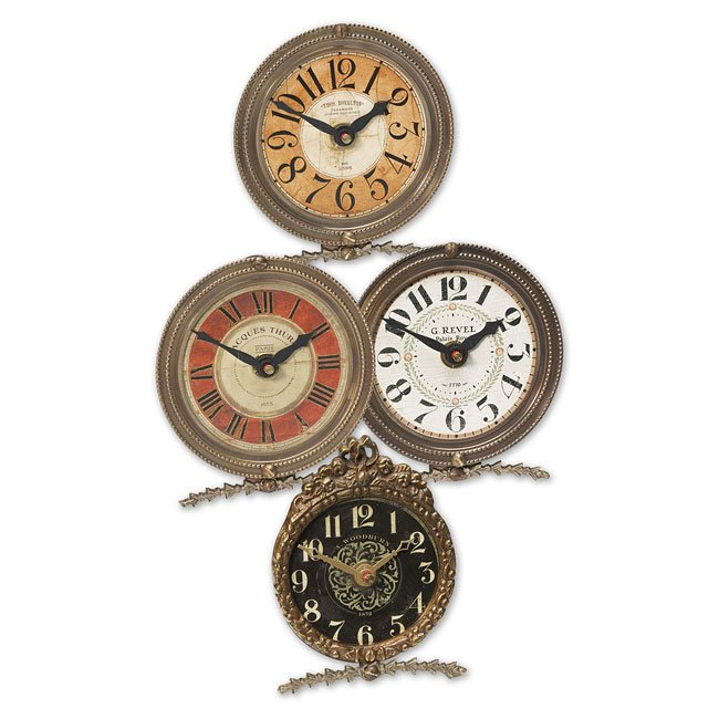 Mini Table Classic Clock (Set of 4)