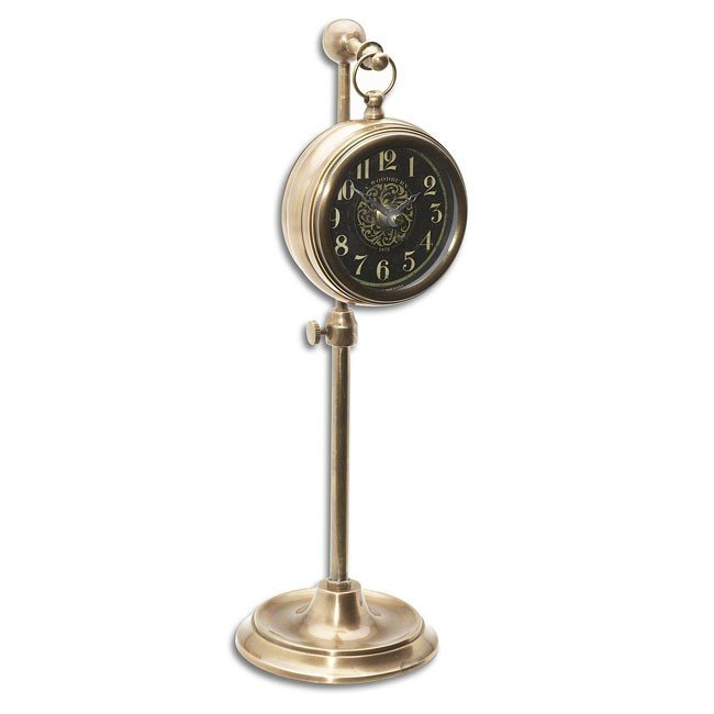 Pocket Watch Brass Woodburn Clock