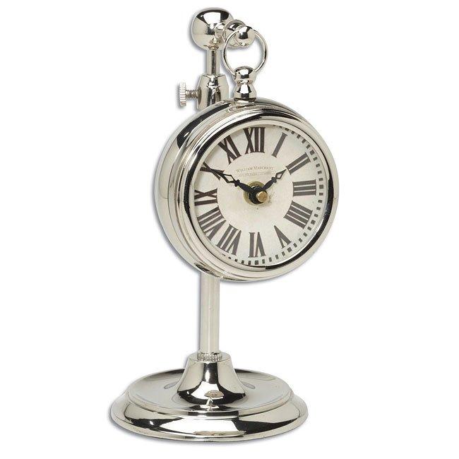 Pocket Watch Nickel Marchant Cream Clock