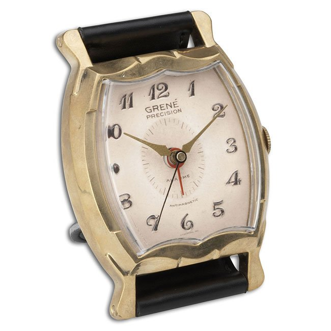 Wristwatch Alarm Clock Square Grene