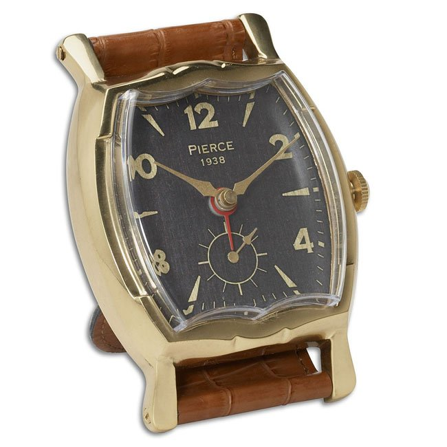 Wristwatch Alarm Clock Square Pierce