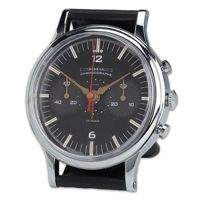 Wristwatch Alarm Clock Silver Geneva