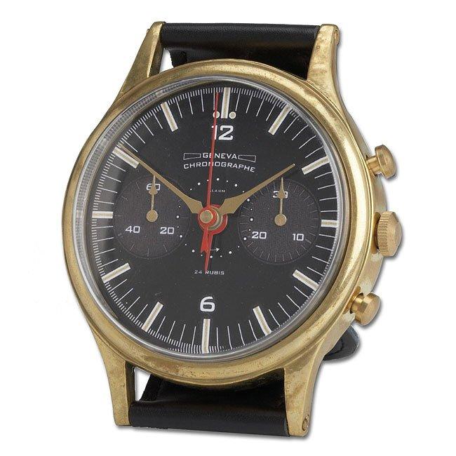Wristwatch Alarm Clock Brass Geneva